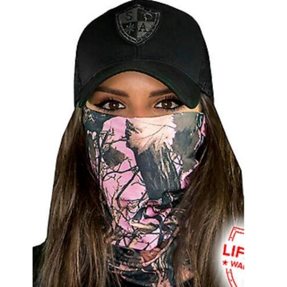 sa Accessories - Pink Camo Tubular Bandana Face & sun shield
